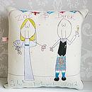 Personalised Scottish Wedding Couple Cushion