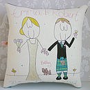 Personalised Scottish Wedding Couple Cushion