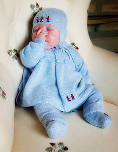 Hand Embroidered Cashmere Soldier Coat - babies' coats & jackets