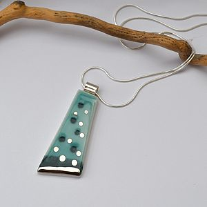 Aegean Porcelain And Silver Pendant Necklace - women's jewellery