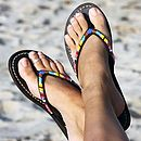 Classic Multi Coloured Flip Flop Sandals
