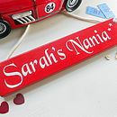 Personalised Painted Wooden Gift Plaque