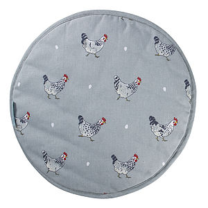 Set Of Two Chicken Round Hob Covers - easter homeware