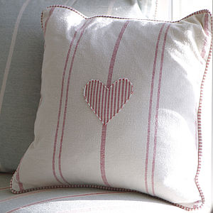 Embroidered Heart Cushion - cushions