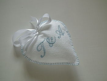 Personalised Embroidered Wedding Heart