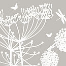 White Dandelions And Cowparsley Wall Stickers