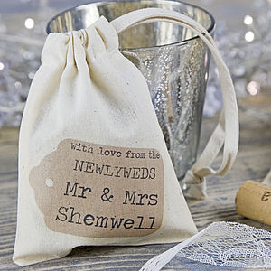 Personalised Wedding Favour Bag - wedding favours