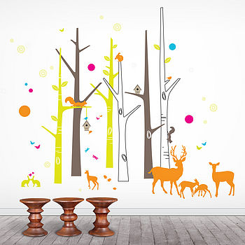Woodland Friends Wall Sticker