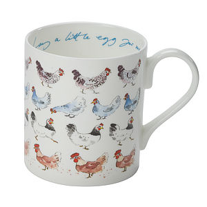 'Lay A Little Egg For Me!' China Mug - crockery & chinaware