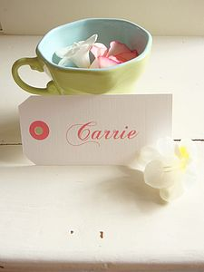 Personalised Coloured Name Tag