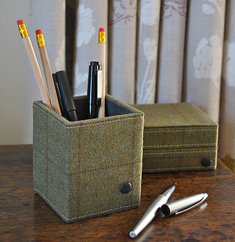 Tweed Pen Pot