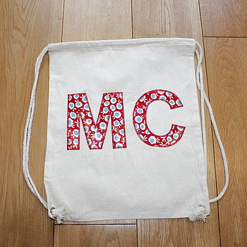 Child's Personalised Initial Kit Bag