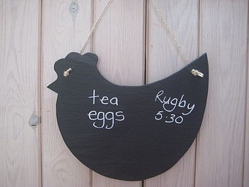 Handmade Slate Chicken Memo Board