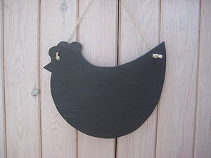 Handmade Slate Chicken Memo Board - noticeboards