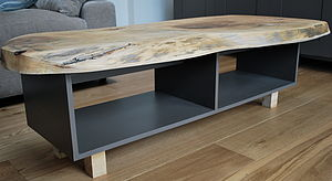 Painted Coffee Table With Solid Oak Or Ash Wood