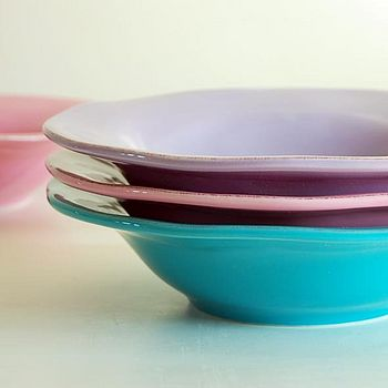 Hand Painted Pasta And Soup Bowls