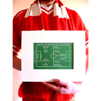 Personalised Football Team Screen Print