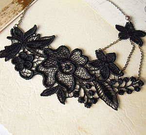 Lace Flower Necklace - necklaces & pendants