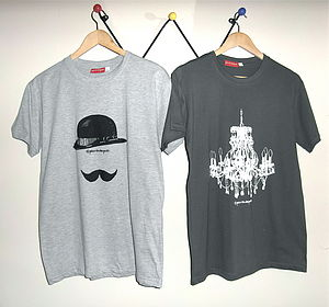 Two T Shirts: Mustache And Chandelier