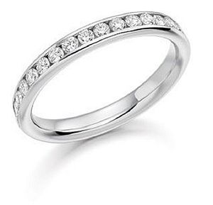 White Gold Diamond Half Eternity Ring - jewellery