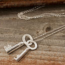 Silver Vintage Keys Necklace