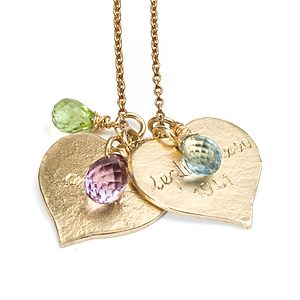 Personalised 9ct Yellow Gold Heart Necklace - fine jewellery