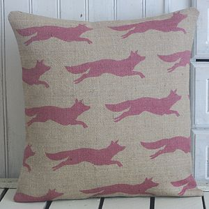 ' Flying Fox ' Hand Printed Cushion