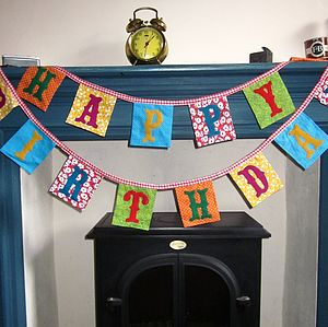 'Happy Birthday' Bunting - bunting & garlands