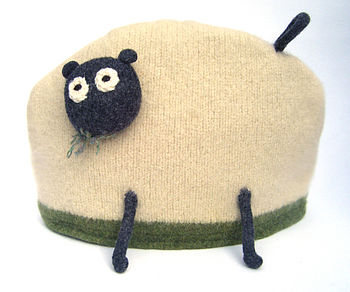 Pure Wool Sheep Tea Or Coffee Cosy