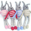 Personalised Wool Knitted Bunny Rabbit