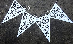 Wedding Paper Bunting - outdoor decorations
