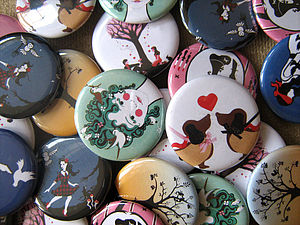 Pack Of Two Badges - jewellery
