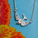 Pascal Mini Bird Necklace In Silver