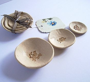 Bird And Nest Stacking Bowls