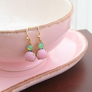 'Tilly' Vintage Glass Earrings - earrings