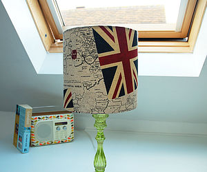 Handmade Fabric Union Jack Lampshade