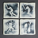 Set Of Four Cricket Coasters