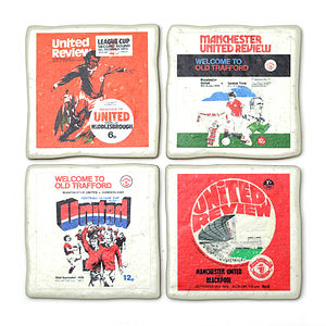 Set Of Four Football Coasters - birthday gifts for him