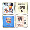 Set Of Four Football Coasters