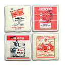 Set Of Four Ceramic Football Team Coasters All UK Teams