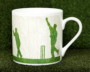 Cable Knit Style Cricket Mug - mugs