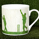 Cable Knit Style Cricket Mug