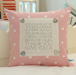 Personalised Keepsake Gift Cushion - wedding thank you gifts
