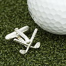 Solid Silver Golf Clubs Cufflinks