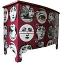Fornasetti Faces Chest Of Drawers In Red