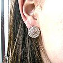 Art Deco Rhinestone Stud Earrings
