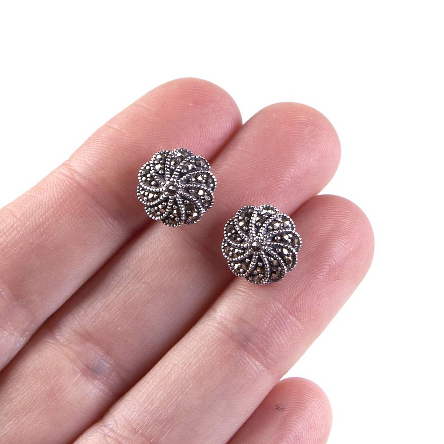 25 No Carve Pumpkin Decorating Ideas in addition 371040866185 besides Easy Nail Art Ideas also Vintage Silver Marcasite Stud Earrings besides Thedogwalk. on art deco studs