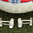 Solid Silver Football Boots Cufflinks