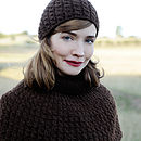 Havana Cable Knit Cape Knitting Kit