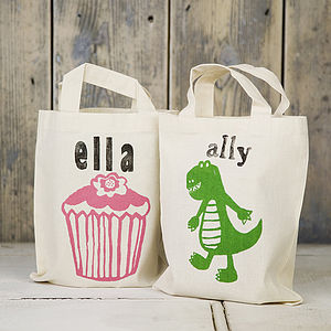 Printed Children's Mini Shopper - flower girl gifts